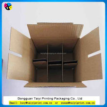 Gift Shipping Packaging 6 Bottle Wine Box