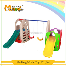 2017 Fitness equipment wholesale garden fashion combination kids slide happy toys of swing