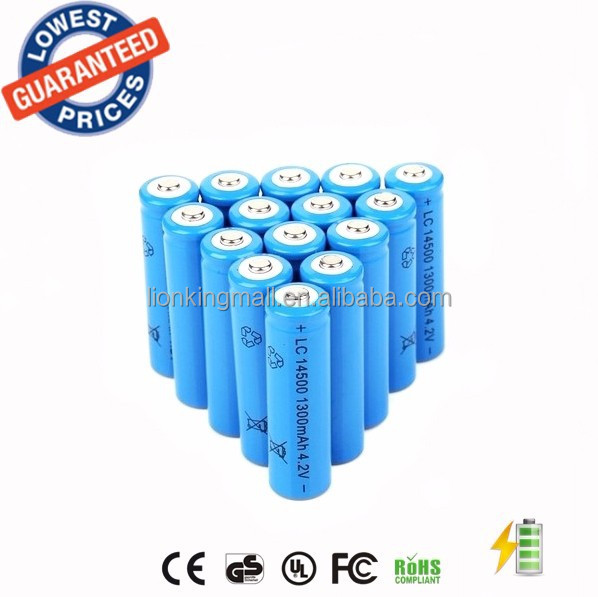 ALONEFIRE high-capacity BRC14500 1300mAh 3.7V Li-ion Rechargeable lithium <strong>battery</strong>