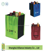 Nonwoven divided wine tote bag