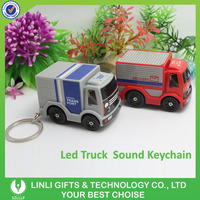 Truck shape plastic best friends keyrings