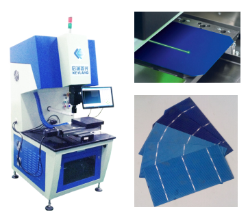 Ipg optical fiber laser cutter 20W 30W 50W for Solar cell cut and broken