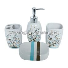High Quality Ceramic Modern Nice Floral Pattern Bathroom Set 3 pc of WS1063-B058