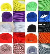 2*0.75 & 3*0.75 White and Purple Zigzag Round Braided Cable Cloth Covered Copper Wire Lighting Flexible Electric Cord VDE CE