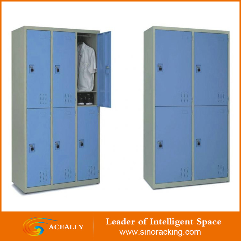 2 door clothing steel locker/wardrobe/metal locker style storage cabinet