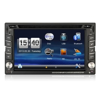 2 din 6.2inch touch screen car dvd gps suitable for most car /bluetooth radio gps swc usb sd dvd cd aux in