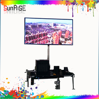 SUNRISE HOT SALE Portable Traffic Control Solar Power Outdoor Programmable Display VMS Mobile Trailer LED Variable Message Signs