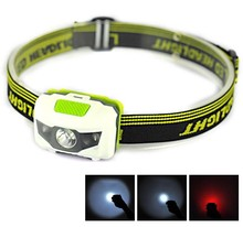 Outdoor Plastic Small 3 Bright LED High Power Bicycle Headlamp/Headlight ,strobe sos lights