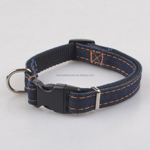 2017 New Arrival Jeans Dog Necklace Puppy Collar