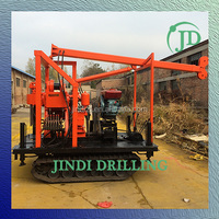 trailer mounted water well drilling rig/mini crawler type water drilling rig