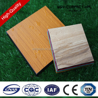 Wood bathroom partitions grain fomica board/high gloss panels/compact laminate