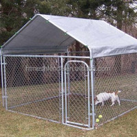 6ft Height Dog Run Kennel Large Outdoor Dog Kennel with top roof cover