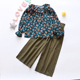China suppliers kids clothes two piece set girls autumn clothing