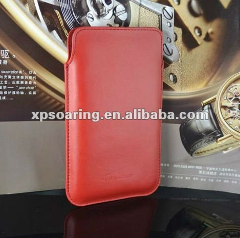 real leather skin pouch case for Samsung Galaxy Note i9220