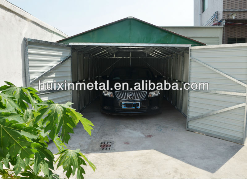 New-style Widely Use Metal Prefab Metal Canopies for two Cars Parking