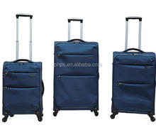 4 WHEEL SUPPER LIGHT FABRIC LUGGAGE BAG TRAVEL 3 PIECE TROLLEY SETS