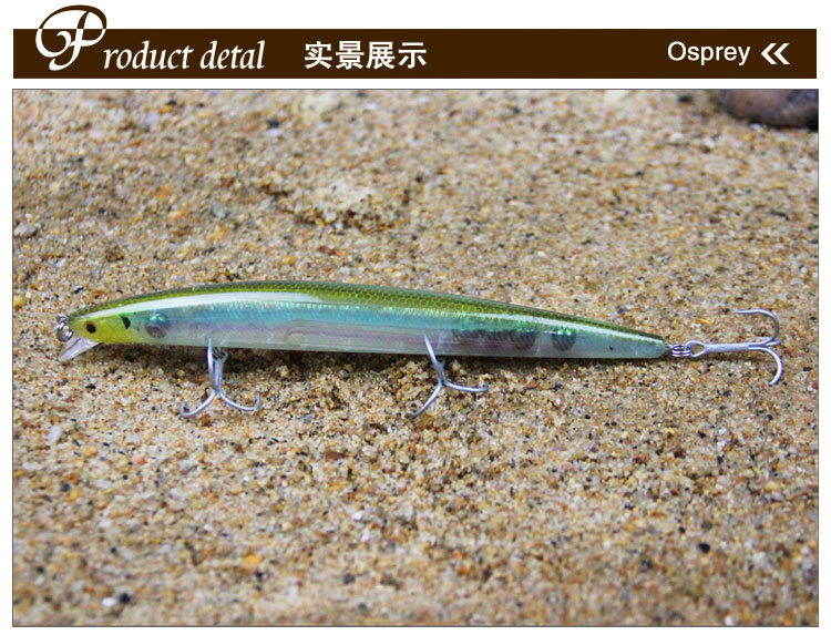 Alibaba stock Fishing Lure 17.5cm/30g ABS Hard Plastic Minnow Lure