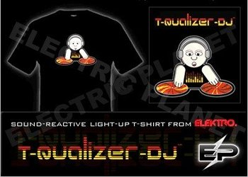 [Super Deal]Wholesale 2009 fashion hot sale T-shirt A25,el t-shirt,led t-shirt