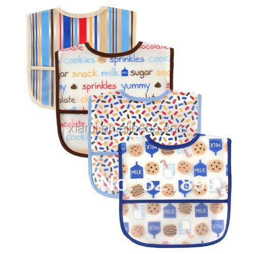 hot salling superior fabric intimate texture colorful stripe tasty juice printed baby bibs