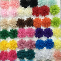 2'' Chiffon Fabric Flower For Headbands Kid's Chiffon Fabric Hair Flower