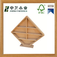 FSC&SA8000 art minds home decor wall shelves solid pine unique shape 7 adjustable dividers toy storage wall shelves