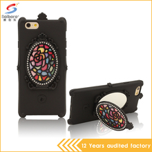 Gorgeous fashion design low moq tpu soft diamond mirror case for iphone 5se