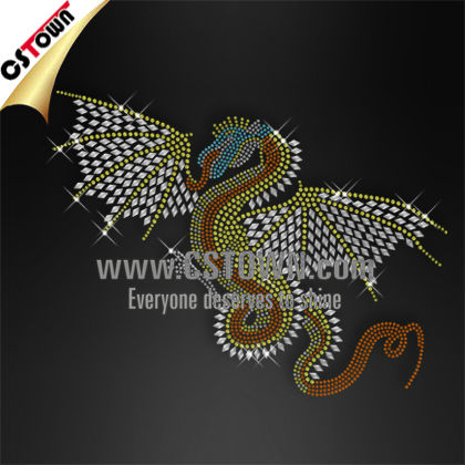 Character design rhinestone iron on dragon