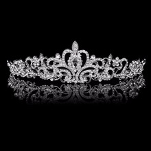 Fashion Bridal Wedding crown beauty pageant Crystal Hair jewelry OEM/ODM