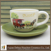 factory direct sale ceramic large tea cup and saucer
