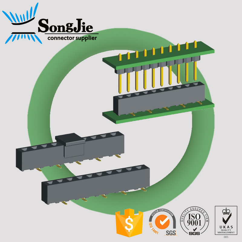 pitch 2.54mm smt mini electrical connector for moblie phone component