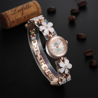 2016 Youth Fashion style leaf shaped crystal stone Sports designer brand watches for women