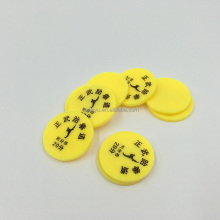 Good Price Custom Plastic PS Blank numbered plastic tokens