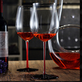 Top custom lead-free red wine cup wedding crystal glasses for gifts