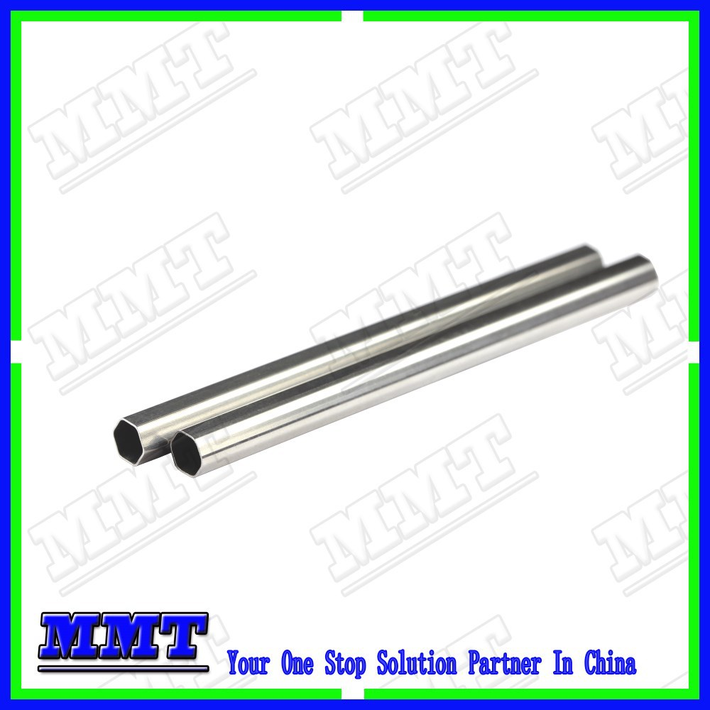cold drawn ss316 thin wall hex steel tube with fixed length cutting