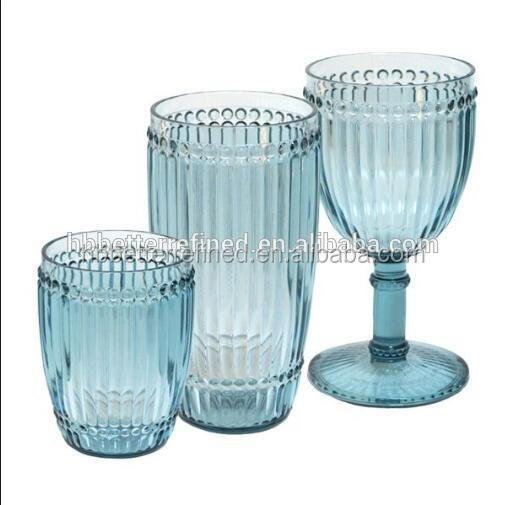 Unique Colored Beaded Wine Glass goblets