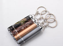 Emergency LED torch with keychain for promotional gifts