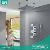 Bathroom Chrome Square Thermostatic Shower Head