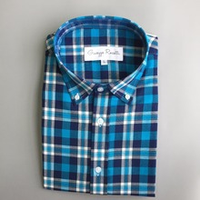 custom design mens small blue plaid thick winter flannel shirt
