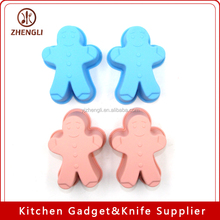 MGB0003 Silicone Cake Tool Christmas Ginger Bread Cupcake wholesale candy mold