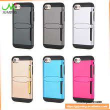 with credit card cash holder wallet case for samsung for iphone 5.5 inch phone