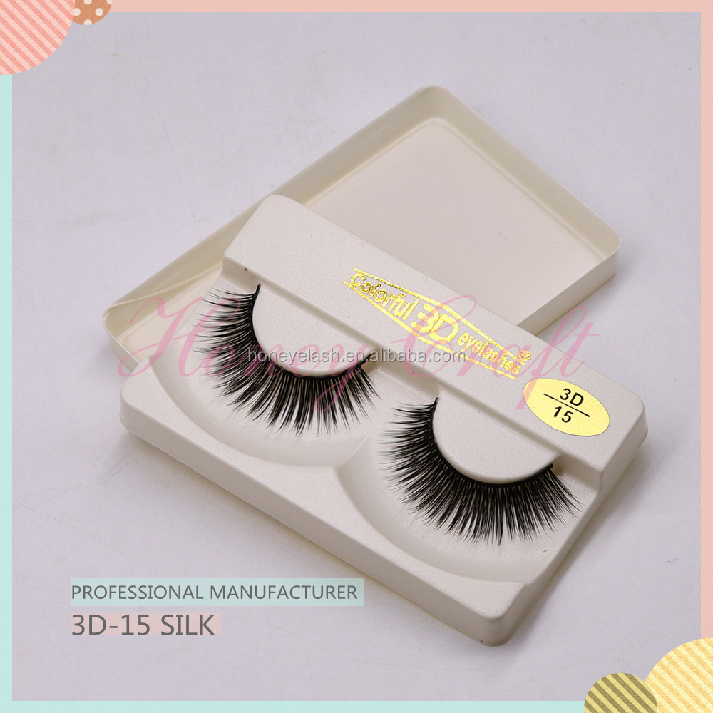Private Label Natural custom packaging 3D Eyelashes+wholesale beauty supply 3D15 lashes