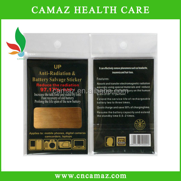 High quality gold-plating anti radiation sticker/patch/chip for cell phone, OEM
