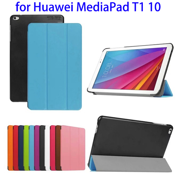 New Arrival Leather Stand Case for Huawei Mediapad T1 10 Tablet Smart Cover