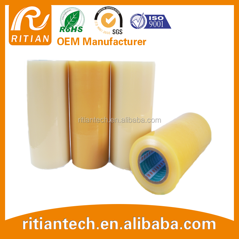 transparent LLDPE plastic anti- UV film for surface protective flim light yellow