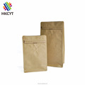Biodegradable Plain Brown Kraft Zipper Coffee Packaging Bag with Valve