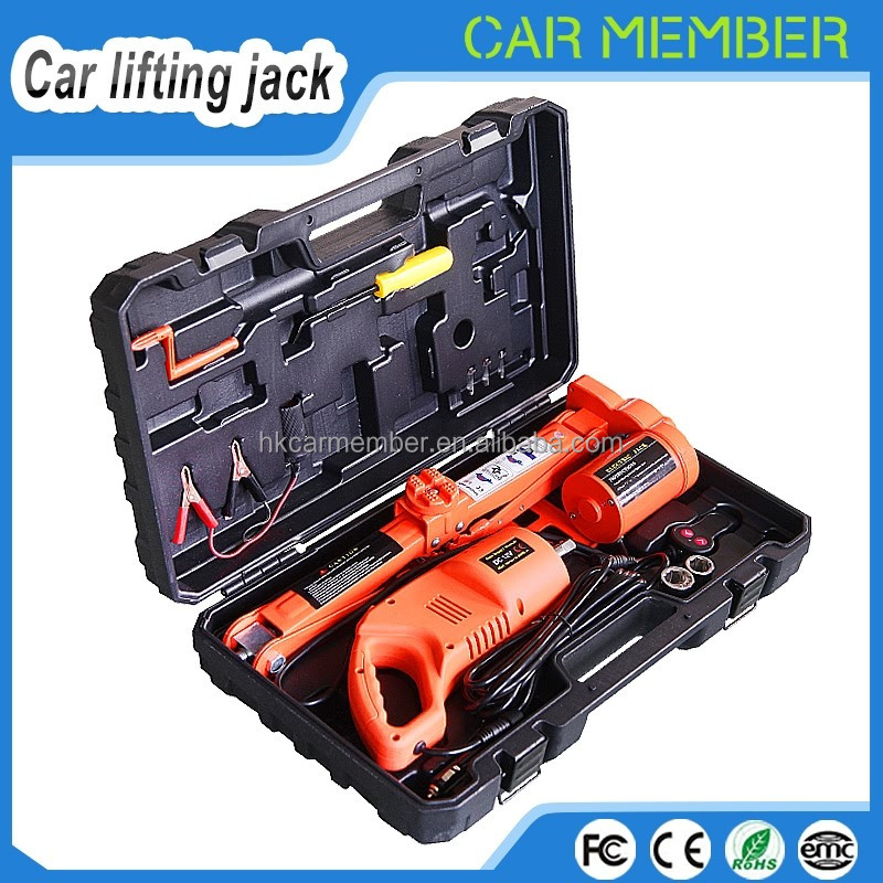 Car Member 12V electric automatic car jack adjustable impact torque socket wrench set emergency tool kit