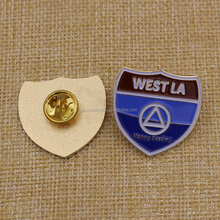 wholesale 3D design gold metal cheap guard security badge