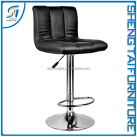 Modern genuine leather bar stools with back