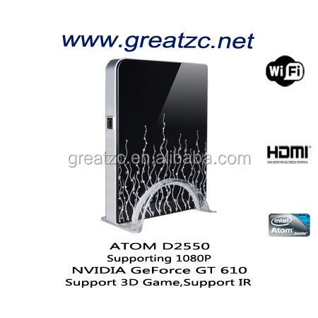 ZC-H610 ATOM D2550 Mini Computer Onboard NVIDIA GeForce GT 610 GPU, Gaming Computer Support1080P Playing ,Support 3D Game