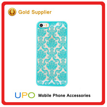 [UPO] New Design Matte Lace Flower engraving Pattern Hard PC Shockproof Phone Cover Case for iphone 5,6,6plus